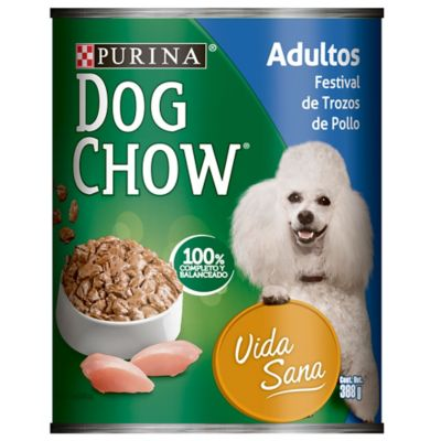 Dog Chow Festival Trozos de Pollo X 374G