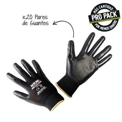 Pack X 20 Pares Guante Multiflex Poliester Nitrilo Talla L