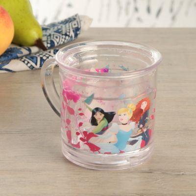 Mug Glitter Princesas Héroes