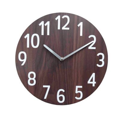 Reloj Pared 30 cm Café Texas
