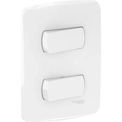 Interruptor Doble Miluz, 10 A, 250 V, Blanco