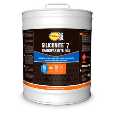 Pintura Hidrofuga Siliconite 7 para Ladrillo Transparente 3103 5 Galones Base de Aceite