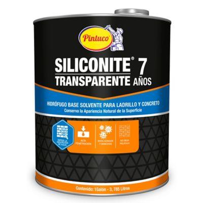 Pintura Hidrofuga Siliconite 7 para  Ladrillo Transparente 3103 1 Galón Base Aceite