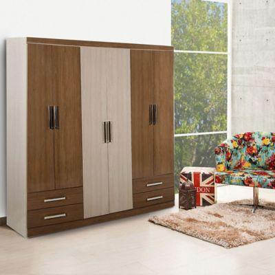 Closet 6 Puertas 2 Cajones 183x180x45cm