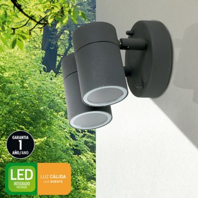 Aplique Ext Led Seoul 800lm 4w 2l Negro