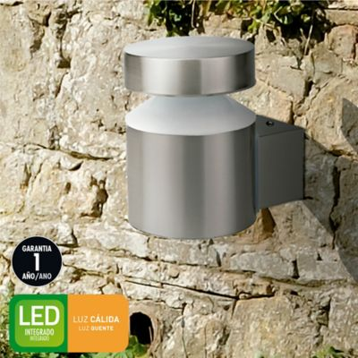 Aplique Ext Led Narvik 600lm 6w Sat