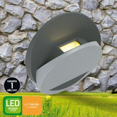 Aplique Ext Led Moss 300lm 3w Gris