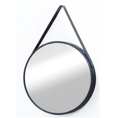 Espejo Eva Negro 40x40 cm