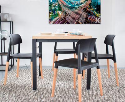 Mesa para Comedor Mínimal 80x80x70cm Negro