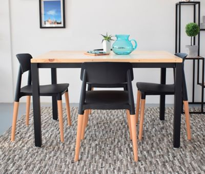 Mesa para Comedor Mínimal 120x80x70cm Negro