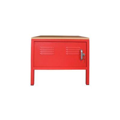Mesa de Noche Locker 1 Puerta Rojo