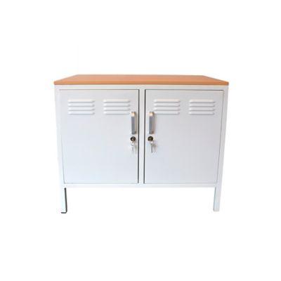 Cómoda Locker 2 Puertas 80x50x72cm Blanco