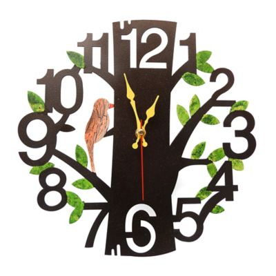 Reloj de Pared Árbol Negro Mate