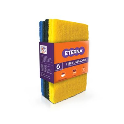 Fibra Limpiadora Colores x6 10x15cm