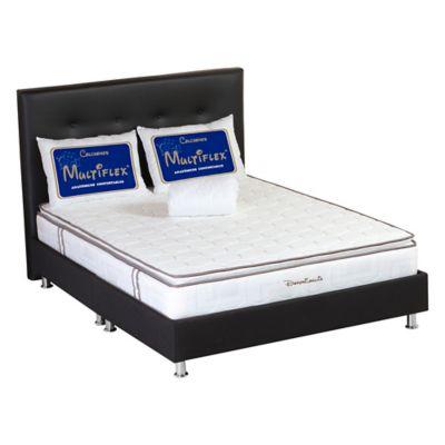 Colchón Confortable 120 Semidoble 120x190cm + Base Cama + Cabecera + Protector para Colchón + 2 Almohadas