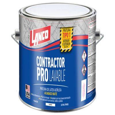 Pintura para Interior Contractor Pro T1 - 1 Galón Blanco