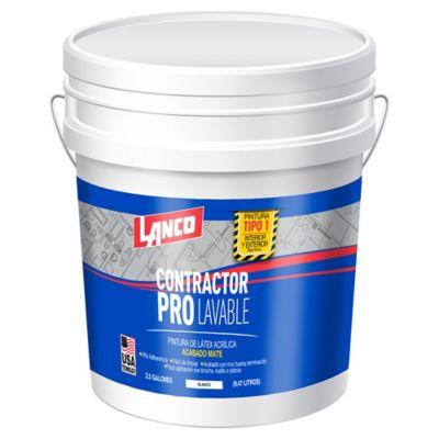 Pintura para Interior Contractor Pro T1 - 2.5 Galones Blanco