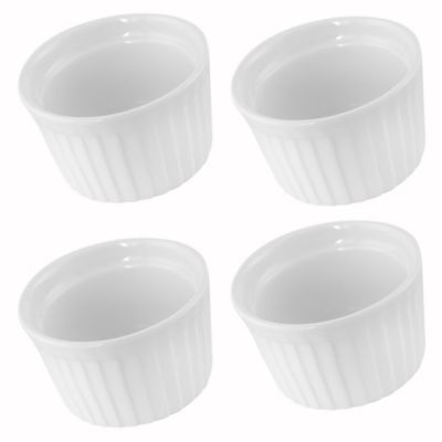 Set 4 Ramekin Text Bco