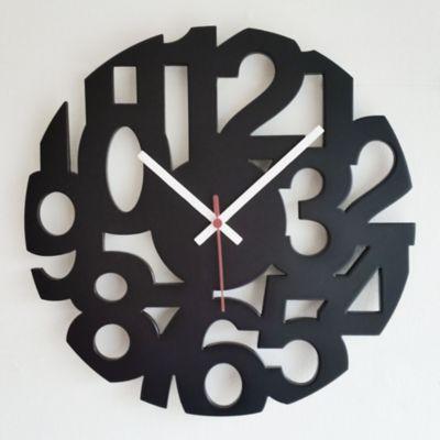 Reloj Pared Numeros 34 cm Calado Negro
