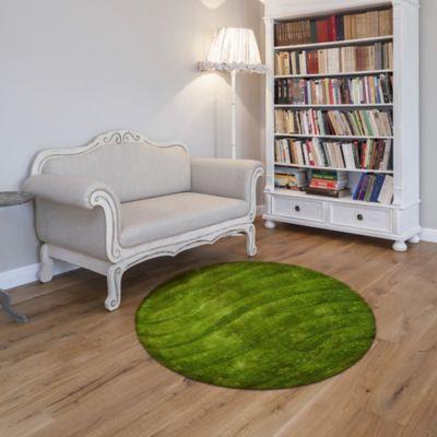 Tapete Sad  150x150 cm Redondo Verde