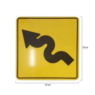 Tablero Señales Reglamentarias de 75cm Reflectivo Tipo 4