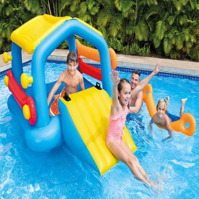 Isla Inflable Con Slide