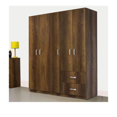 Armario 5 Puertas 2 Cajones 180x150.2x49.8cm Caramelo