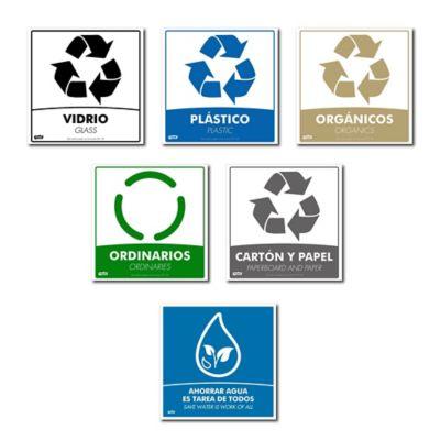 Kitx6 Ecológico de Señalización de Separación de Residuos 5 Referencias