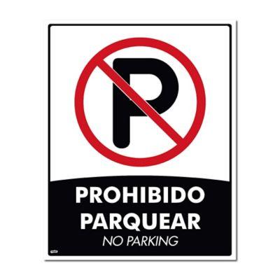 Señal Prohibido Parquear 50X40Cm Poliestireno Calibre 60 con Sujetador