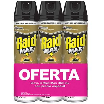 Raid Max 360ml Pack X 3/6 (30% Off)