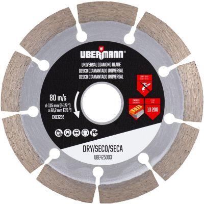 Disco Diamantado Segmentado 4-1/2pulg Ubermann