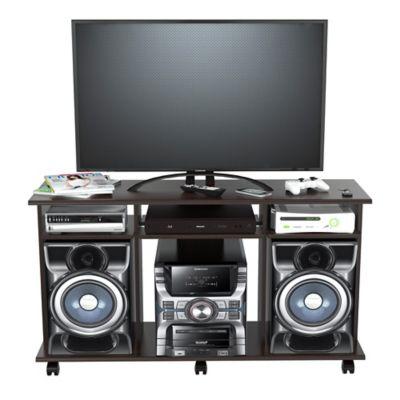 Mesa para TV Siena con Rodachinas 66,5 x 120 x 35 cm Wengue