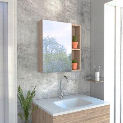 Gabinete para Baño Labelle 49.7x45x12.5 cm con Espejo Miel