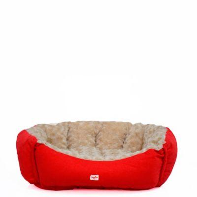 Cama Mascotas Pequeñas 50 cm x 50 cm Rojo