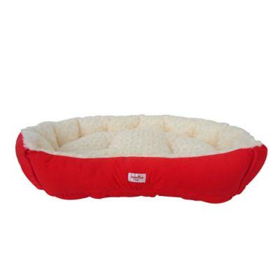 Cama Mascotas Grande 60 cm x 70 cm Rojo