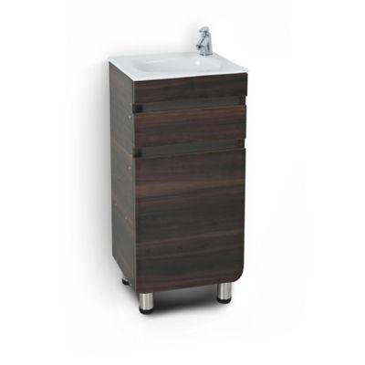Mueble de baño Aluvia Habano 40x35 cm con lavamanos
