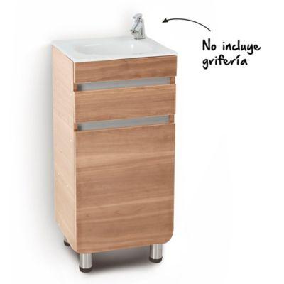 Mueble de baño Aluvia Miel 40x35 cm con lavamanos