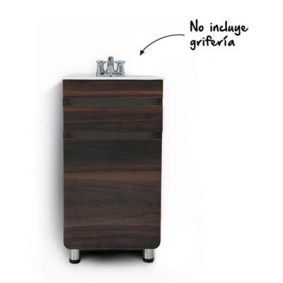 Mueble de baño Aluvia Habano 45x45 cm con lavamanos