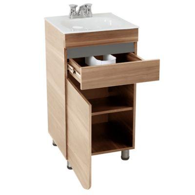 Mueble de baño Aluvia Miel 45x45 cm con lavamanos
