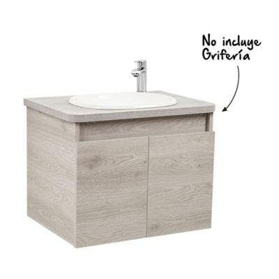 Mueble de baño Liquid Ceniza con lavamanos Sobreponer