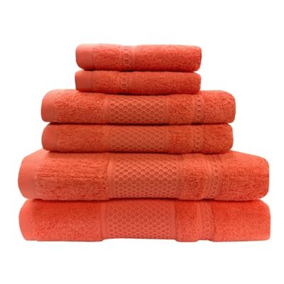 Set de Toallas x 6 Synergy Naranja