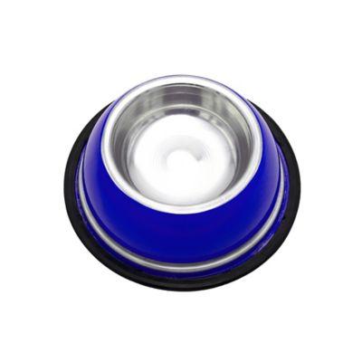 Comedero Pequeño Inoxidable Azul