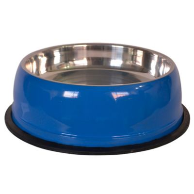 Comedero Extra Grande Pesado Inoxidable Azul
