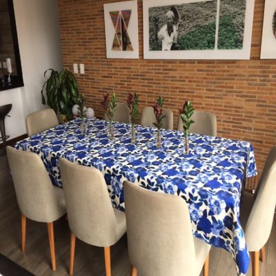 Mantel 146x210cm Azul Acuarela