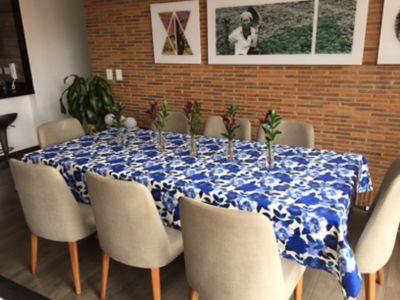 Mantel 146x240cm Azul Acuarela