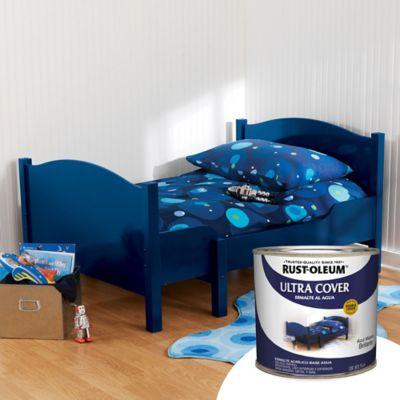 Esmalte a Base de Agua 1/4 Galón Azul Marino Brillante