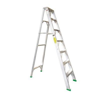 Escalera Certificada Tipo Tijera 7 Pasos de 2,10 Metros en Aluminio Tipo II de 102 Kilogramos de Resistencia