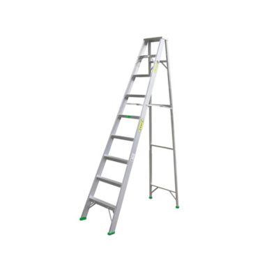 Escalera Certificada Tipo Tijera 9 Pasos de 2,70 Metros en Aluminio Tipo II 102 Kilogramos de Resistencia