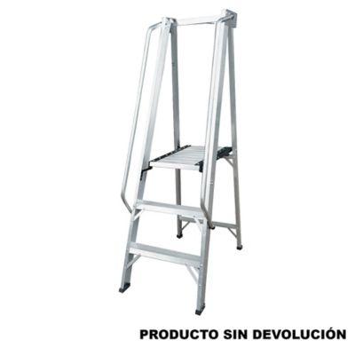Escalera Tipo Plataforma en Aluminio 0,90 Metros Tipo IA de 136 Kilogramos de Resistencia