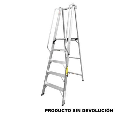 Escalera Tipo Plataforma en Aluminio de 1,50 Metros Tipo IA de 136 Kilogramos de Resistencia